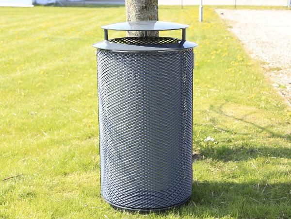 Strækmetal affaldsbeholder