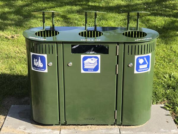 3 i en affaldssortering til park og by