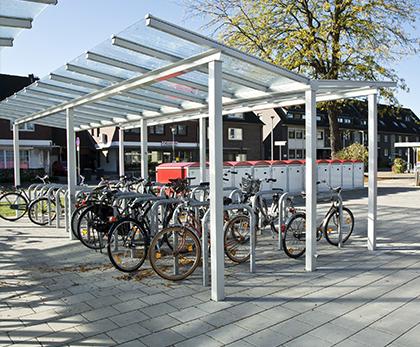 cykeloverdækning til 2 etager