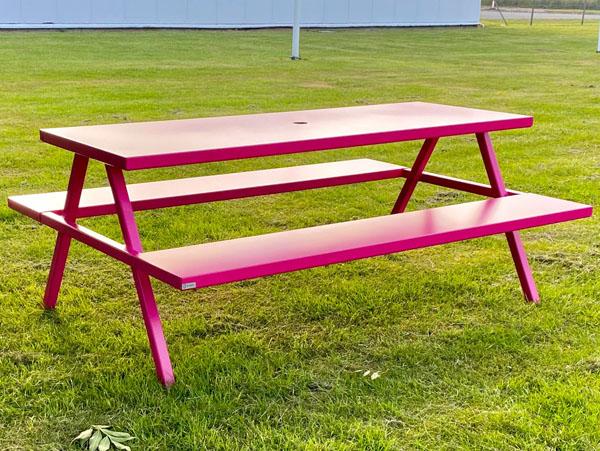 bord bænke sæt i pink