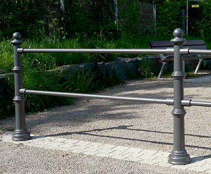 Dekorativ barrier pullerter med kugletop