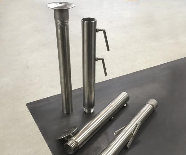 beslag til parasolfod i rustfrit stål