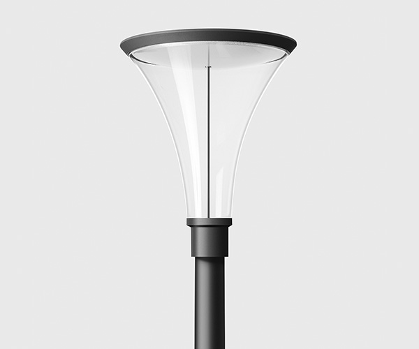 BEGA lygtepæl med symmetrisk lys i et stilrent design