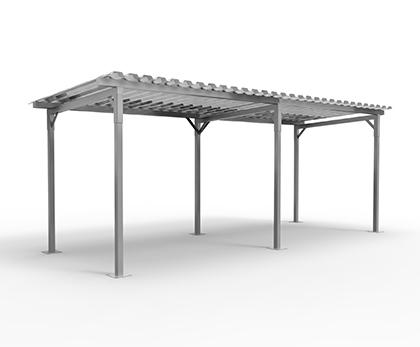 simpel cykeloverdækning i galvaniseret stål