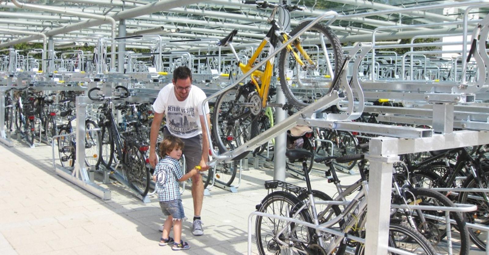 Dobbelt cykelparkering