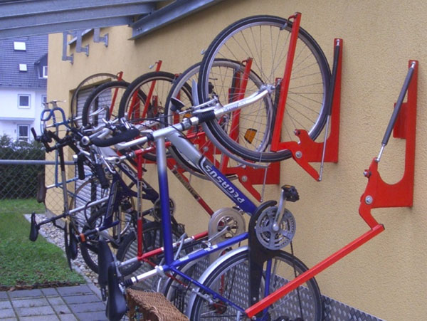 Væghængt cykelstativ