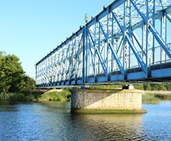 Den Blå Bro i Randers renoveres af BY BANG juli 2015