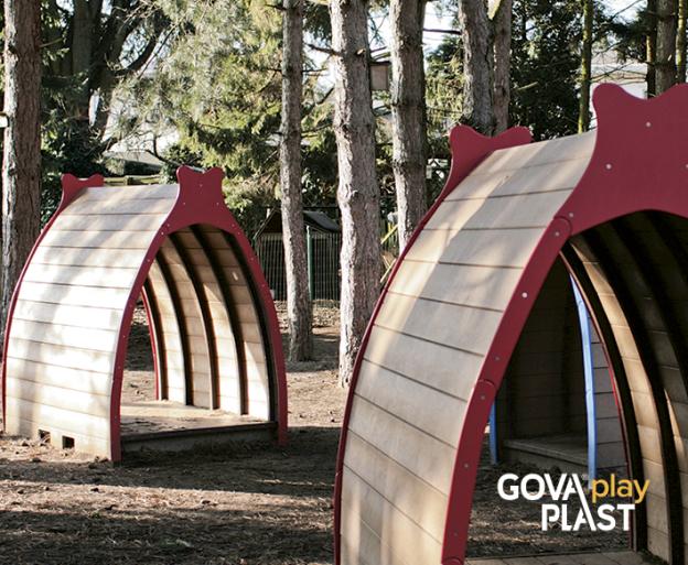 Legehule VIKING GOVA play PLAST. Vedligeholdesfrit genbrugsplast. Legeplads, skolegård, børnehave, vuggesture, park plads forhandler BY BANG