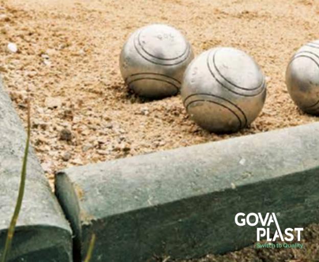 plast kantsætning, Kantsætning GOVA home+ PLAST vedligeholdsfrit recycling genbrugsplast. Forhandler BY BANG kant, bed, kantafgrænsning, bedkant