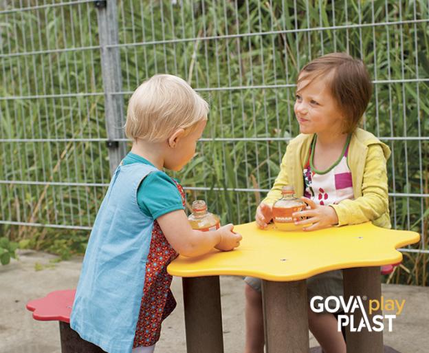 Sandkassesæt GOVA play PLAST. Vedligeholdesfrit genbrugsplast. Legeplads, skolegård, børnehave, vuggesture, park plads forhandler BY BANG