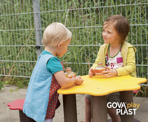 Sandy GOVA play PLAST. Vedligeholdesfrit genbrugsplast. Legeplads, skolegård, børnehave, vuggesture, park plads forhandler BY BANG